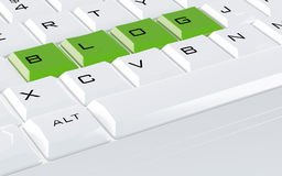 Keyboard with the green buttons Royalty Free Stock Photography