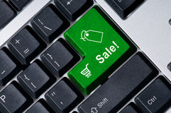Keyboard with green key Sale Royalty Free Stock Image