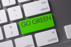 Keyboard with Green Keypad - Go Green. 3D Render. Stock Photography