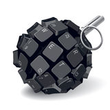 Keyboard grenade Royalty Free Stock Image