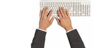 Keyboard and hand Stock Photos