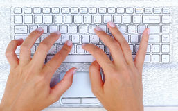 Keyboard Hands Royalty Free Stock Images