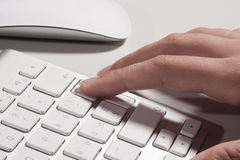 Keyboard and hands Royalty Free Stock Image