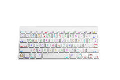 Keyboard With Handwritten Children Keys Stock Images