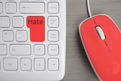 Keyboard for hater Royalty Free Stock Photography