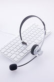 Keyboard and head set Royalty Free Stock Photo