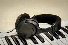 Keyboard and headphone Stock Photo