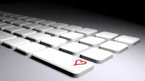 Keyboard with heart Stock Photo