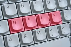 Keyboard: Help. The word 'HELP' spelt on computer keyboard Royalty Free Stock Image