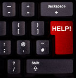 Keyboard help. Keyboard with red enter button, spelling help Stock Images