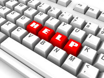 Keyboard. help. 3d Royalty Free Stock Image