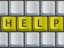 Keyboard Help. Keyboard blank with help on center Royalty Free Stock Photos