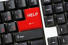 Keyboard  help Royalty Free Stock Photography