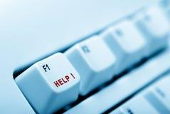 Keyboard help blue Royalty Free Stock Image