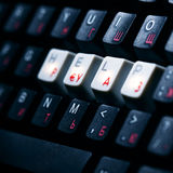 Keyboard help key Stock Photography