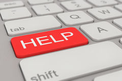 Keyboard - help - red Royalty Free Stock Photography