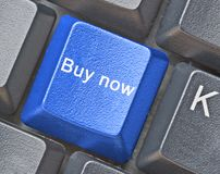 Hot key for buy now. Keyboard with hot key for buy now royalty free stock photos