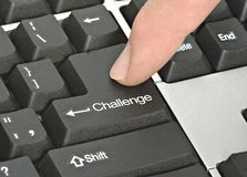 Hot key for challenge. Keyboard with hot key for challenge Royalty Free Stock Images