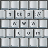 Keyboard http://www.com Royalty Free Stock Photo