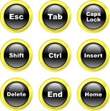 Keyboard icons Royalty Free Stock Photography