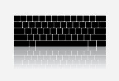 Keyboard illustration. Simple vector keyboard illustration with reflection Royalty Free Stock Photos