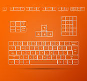 Keyboard Illustration Stock Photos