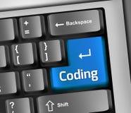 Keyboard Illustration Coding. Keyboard Illustration with Coding wording Stock Image