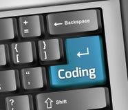 Keyboard Illustration Coding. Keyboard Illustration with Coding wording Royalty Free Stock Photo