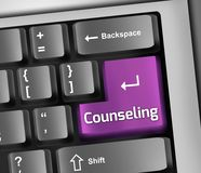 Keyboard Illustration Counseling. Keyboard Illustration with Counseling wording Royalty Free Stock Images