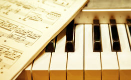 Keyboard instrument Royalty Free Stock Image