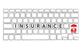 Keyboard with Insurance wording Royalty Free Stock Images