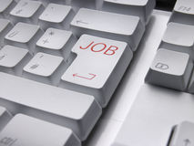Keyboard JOB Royalty Free Stock Photography