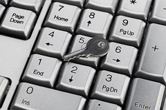 Keyboard and key Stock Photography