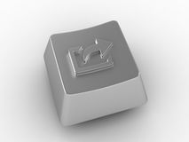 Keyboard key with arrow sign. Royalty Free Stock Photography