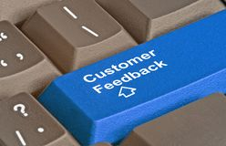 Key for customer feedback Royalty Free Stock Photography