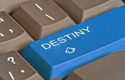 Key for destiny. Keyboard with key for destiny royalty free stock photography