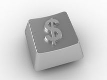Keyboard key with dollar sign. Royalty Free Stock Images
