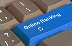 Key for e-banking Royalty Free Stock Photography