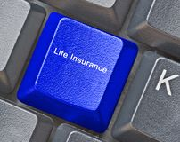 Key for life insurance Royalty Free Stock Photography