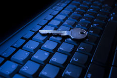 Keyboard and key Royalty Free Stock Photo