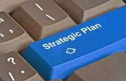 Key for strategic plan Royalty Free Stock Photo