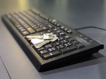 Keyboard is the key to success Stock Photography