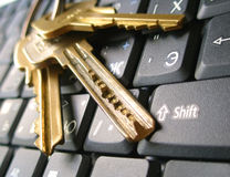 Keyboard with keys Stock Photos