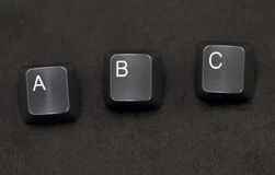 Keyboard keys - ABC Royalty Free Stock Photography