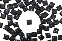 Keyboard keys background with keybord home Royalty Free Stock Photos