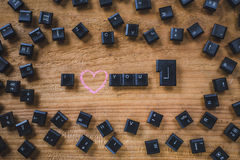 Keyboard keys on the board Royalty Free Stock Image