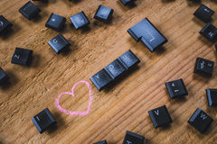 Keyboard keys on the board Royalty Free Stock Photos