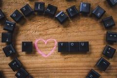 Keyboard keys on the board Stock Photography