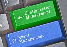 Keys for configuration and event management Stock Image