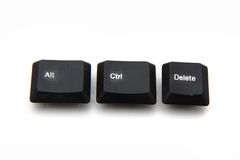 Keyboard keys - ctrl, alt, del Royalty Free Stock Images